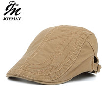 JOYMAY New Spring Summer Cotton Berets Caps For Men Casual Peaked Caps letter embroidery Berets Hats Y020(China)