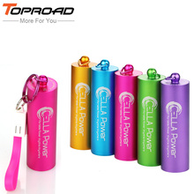 Mini column Power Bank 5000mAh Portable Powerbank External Mobile Battery Charger Backup Pack bateria externa For iPhone 5 6 6s