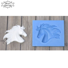 Yueyue Sugarcraft Horse Head silicone mold fondant mold cake decorating tools chocolate gumpaste mold