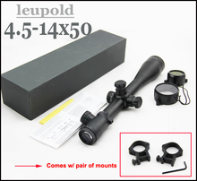 Tactical Leupold 4.5-14x50 MARK 4 Mil Dot Red/Green/Blue Illuminated Rifle Scope Come with scope mounts