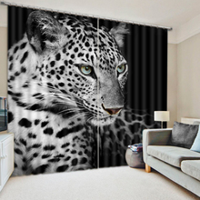 Modern Luxury 3D Curtains Drapes For Bed room Living room Office Hotel Cortinas Tiger Animal Blackout Shade Window Curtains(China)