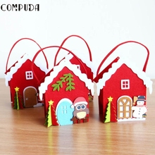 OC 14 Mosunx Business Hot Selling Drop Shipping   Christmas House Apple Candy Bead Bag Christmas Santa Claus Snowman Gift Decor
