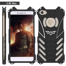 Mi5 Max R-Just Batman Mobile Phone case Aluminum Metal Armor cover for Xiaomi Mi Max 5 5s Plus with R Just Medal Holder bracket