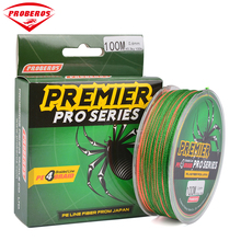 Strong 100M Multifilament PE Braided Fishing Line 4 Stands 4 Weaves 8LB-100LB Fishing Tackle Multicolor Green Package