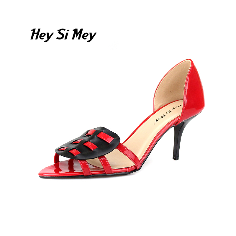 Free shipping 7cm  sandals big size sexy high-heeled sandals high-heeled shoes model shoes 5 - 14.5<br>