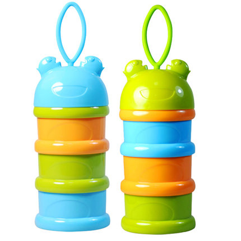 3 Layers Portable Baby Formula Dispenser Milk Powder Storage Boxes Children Food Storage Container