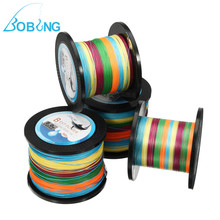 Bobing Multicolor Polyethylene 500M PE Braided Fishing Line 5LB-80LB Super Strong for Dyneema Multifilament Fish String Cord(China)