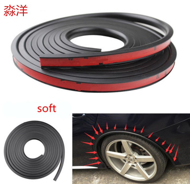 10 meters black rubber trim seal for fender flares wheel arches winged