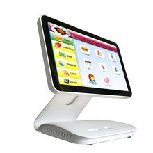 15.6 inch all in one restaurant pos system capacitive touch screen piano paint surface pos cash register(China)