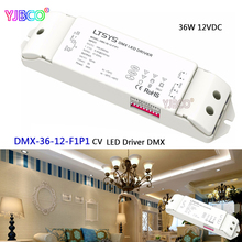 LTECH led dimming intelligent driver;DMX-36-12-F1P1;DMX512/RDM 12V/3A/36W output AC100-240V input CV DMX LED driver(China)
