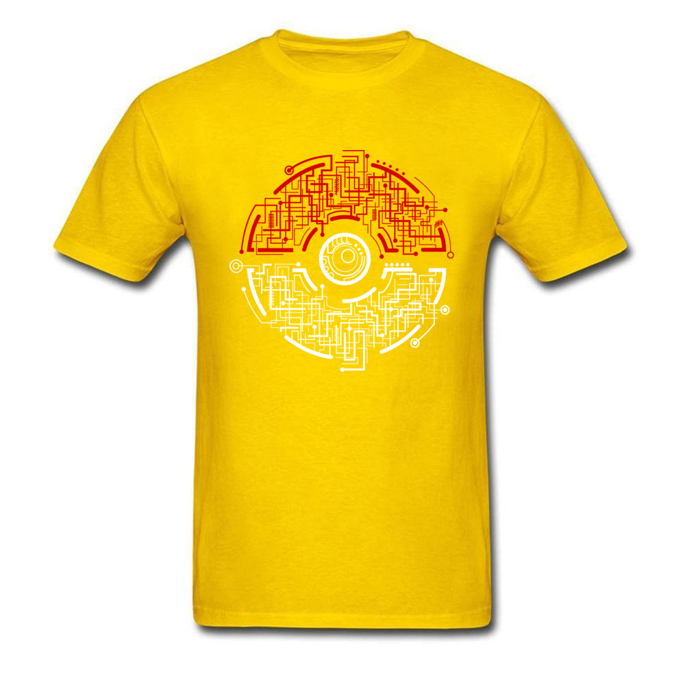electric ball 8874 Men T-shirts Discount Unique Tees 100% Cotton Crewneck Short Sleeve Design Tee Shirt Summer Fall electric ball 8874 yellow