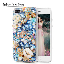 "For iPhone 7 Plus Rhinestone Case Handmade Luxury 3D Glitter Crystal Diamond Hard PC Phone Cover Case for iPhone 7 Plus (5.5"")"