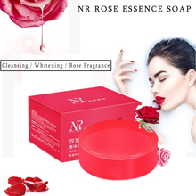 Handmade Rose Essential Oil Cleansing Soap Body Face Whitening Moisturizer Skin Care Natural Cleanser Bath Shower Accessories(China)