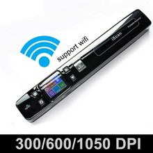 iSCAN 1050DPI Wireless Wifi LCD Portable Scanner A4 Size Book Document Photo Handyscan JPG / PDF Format Support TF Card to 32GB