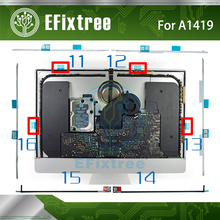 "10Sets/lot NEW A1419 Display Adhesive Strip Sticker Glue Tape for iMac 27"" A1419 076-1437 076-1422 076-1444 EMC 2639 2012-2015(China)"