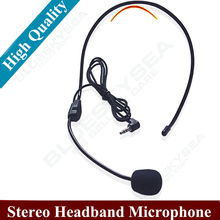 3.5mm Stereo headphone Headset Earphone Telephone USB 3.5mm Clip-on Microphone Wired for Computer Laptop