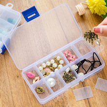 Plastic Clear Slots Jewelry Tool Box Case Craft Organizer carrying cases Storage Beads jewelry finding boxes bag container