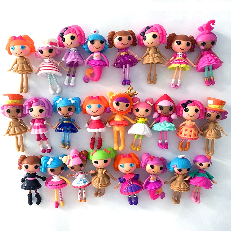 Random Pick Lot 10Pcs Lalaloopsy Mini 1/'/' MGA little girl Figure For dolls House