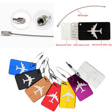 HOT Aluminium Travel Luggage Baggage Suitcase Address Tag Label Holder 7 Colors