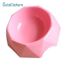 Diamond Shaped Pet Bowl Portable Feeding Small Dog cat Bowl Green Non-slip Oblique Mouth Durable Feeder Single bowl Pet utensil(China)