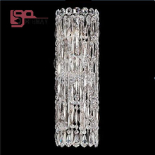 high quality modern crystal lamp long wall lights for home and hotel(China)
