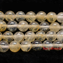 "Factory Price Natural Stone Smooth Citrines Quartz Loose Beads 16"" Strand 6 8 10 12 MM Pick Size For Jewelry Making"