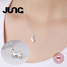 [Dez.23 Buy 1 Get 1] Moon Unicorn Sweet Horse 925 Sterling Silver Jewelry Chain Pendant Necklace Women Collier Choker Collar(China)