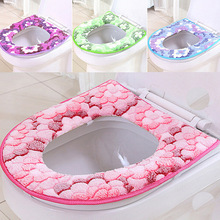 Winter Toilet Seat Warmer Coral fleece Thicken Carpet Toilet Seat Cover Soft Comfortable Baby Potty Seat Overcoat Toilet Case(China)