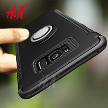 Luxury Adsorption Case For Samsung Galaxy S8 Plus S8 Cover Soft TPU Silicone Finger Ring For Samsung S8 Plus Case H&A(China)