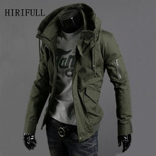 2017 Men's Fashion Brand Military Jacket Army Design Casual Zipper Jackets Spring Autumn Quality Men Slim Fit Coats Plus Size