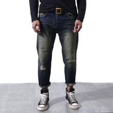 2017 Arc 3D Tapered Denim Ripped Jeans Men High Quality Old School Denim Jean Ankle-length Autumn Vintage Spot dsq Biker Bermuda(China)