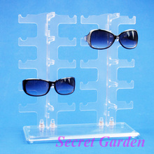 Wholesale Frosted Sunglass Glasses Display Stand Holder Rack For 10 Pairs