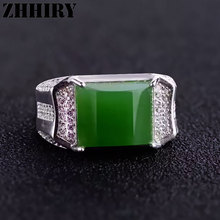 an Ring Real Jasper Rings Natural Genuine Gem Stone Solid 925 Sterling Silver Men and Women General Jewelry(China)