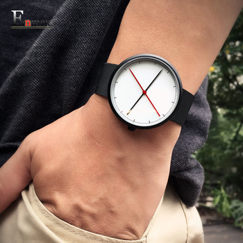 2016 Enmex presente criativo estilo relógio de pulso fresco duas mãos balance com escala Fina casuais relógio de quartzo da forma do aço inoxidável