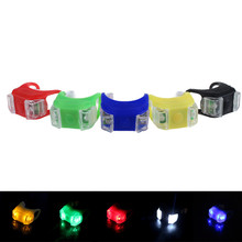 world-wind#3011  Silicone Bicycle Safety Lighting LED Light Lamp Flashlight Bike Set dd free shipping