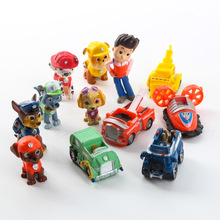 12pcs/set Mini Patrolling Dog Russian Anime Doll Action Figures Car Puppy Toy Patrulla Canina Juguetes Gift kids toy