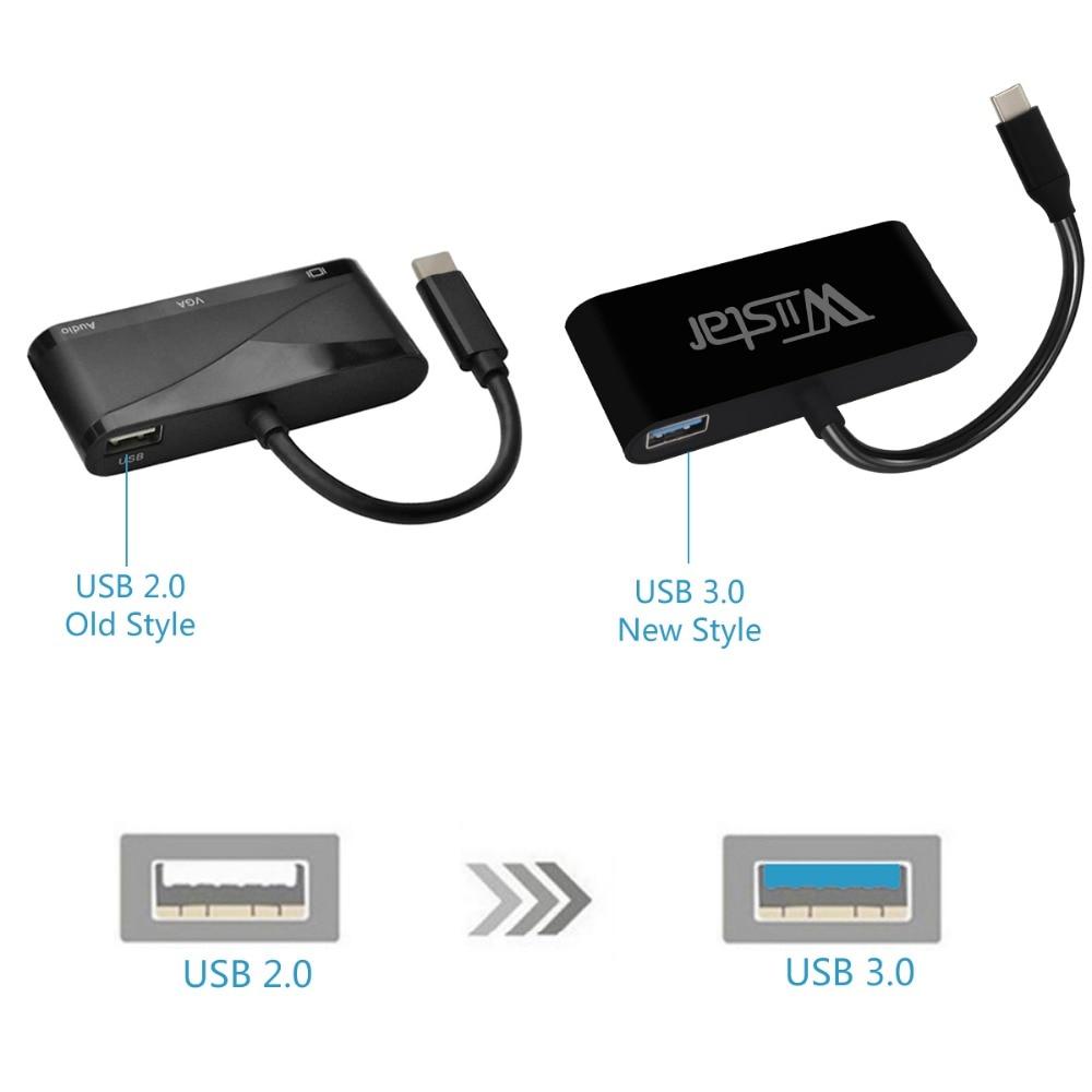 TYPT C to HDMI VGA converter adapter  typec -  - 1200