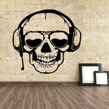 Halloween Party Backdrop Wall Stickers Black/White/Brown Skull Wall Sticker PVC Wall Decals Living Room Home Party Decoration(China)