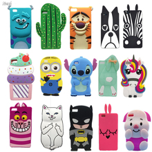 Case For Huawei Ascend P8 lite Cases 3D Cute Cartoon Stitch Minnie Rabbit Bunny Back Cover For Huawei P8 lite Silicon Case Coque(China)