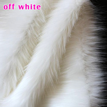 "Off White Shaggy Faux Fur Fabric (long Pile fur) Displaying Backdrops costumes crafts 36""x60"" Sold By The Yard  Free Shipping"