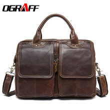 OGRAFF Handbag Male Bag Genuine Leather Bags Men Briefcase Business Men Crossbody Messenger Bags Leather Laptop Bag Lawyer