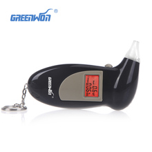 Promotion Professional Key Chain Police Digital Breath Alcohol Tester Breathalyzer Analyzer Detector Audio Alert Free Shipping
