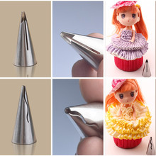 New Arrival Korean Puff Russian Skirt Shape Stainless Steel Icing Piping Nozzles Pastry Decorating Tips Cake Cupcake Decorator
