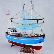 Dowin 1:48 scale Crabs fish boat ssembly kits wooden sailing boat Diy ship model building kits educational toy gift childre(China)