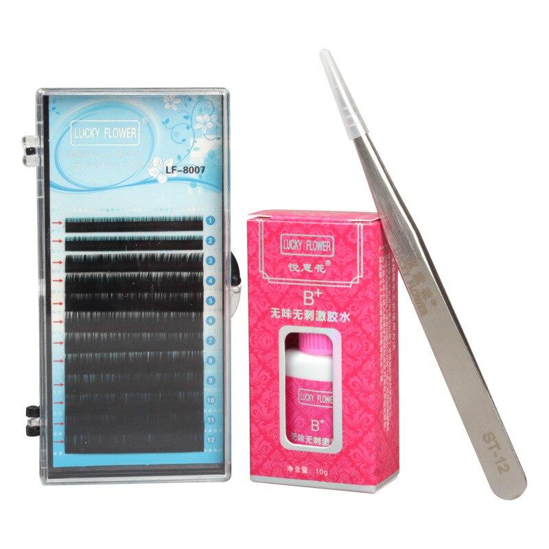 3 PCS False Eyelash Extension Kit Makeup Set With Tweezers Glue Professional Eyebrow Make Up Set <br>