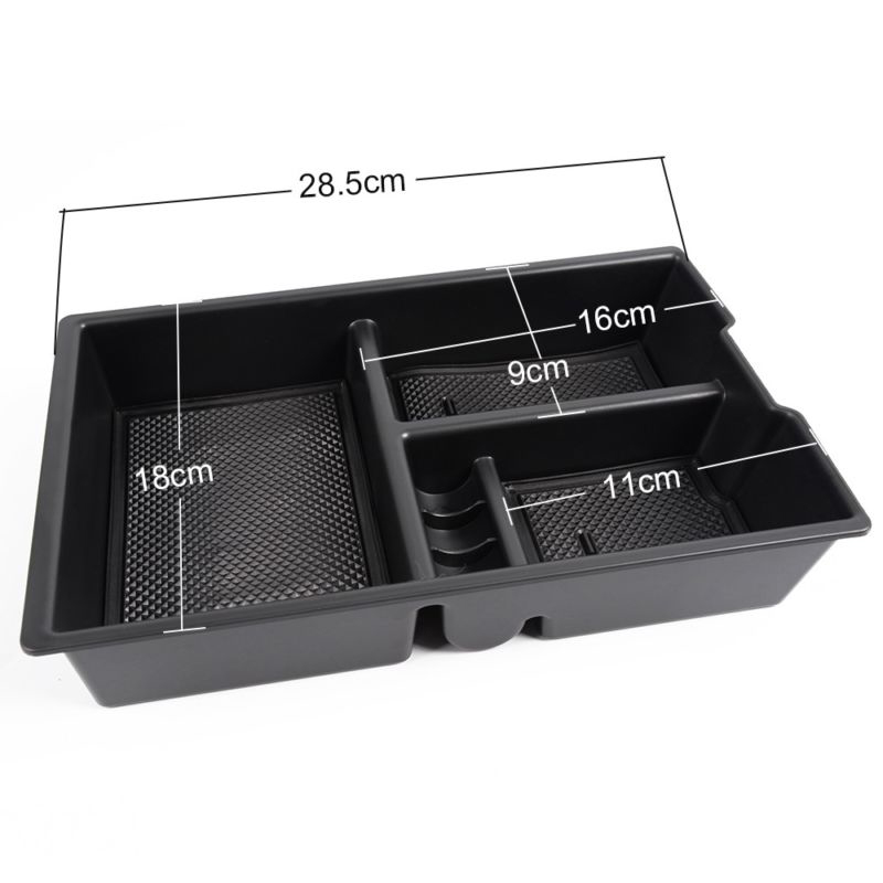 Center Console Storage Box Fit for Ram 2500 2009-2018 Armrest Organizer Tray 1pc