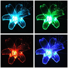 Solar Powered Garden Decor Stake Path Lawn Yard LED Outdoor Landscape Light Solar Lily(China)