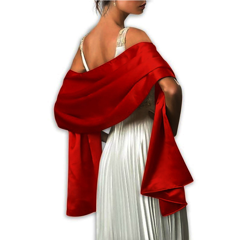 2019 New Arrival Women Evening Wraps Shawls 200*45cm Satin Long Formal Wedding Party Ladies Bolero