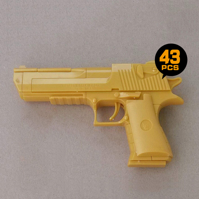 MOC Military Pistol Building Blocks Gold Desert Eagle Weapon Gun Model Assemble Children's Toy Bricks Educational Kids Toys(China (Mainland))