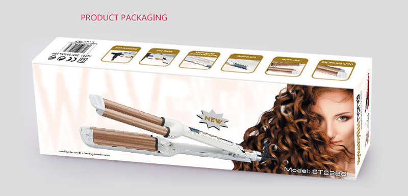 NewView Digital Hair Curling Iron LCD Hair Curler Ceramic Styler Professional Triple Barrel Anion Styling Tools